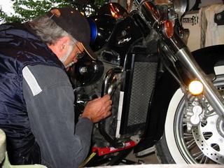 L'entretien journalier de la moto