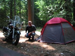 Camper en moto